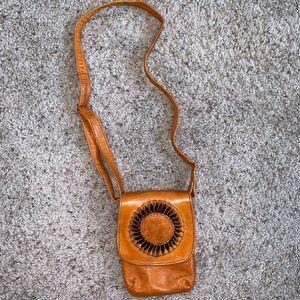 Vintage Boho Leather Mini Crossbody